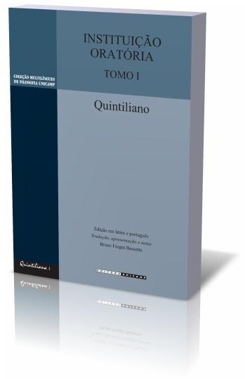 Instituição oratória - Tomo II, livro de Quintiliano
