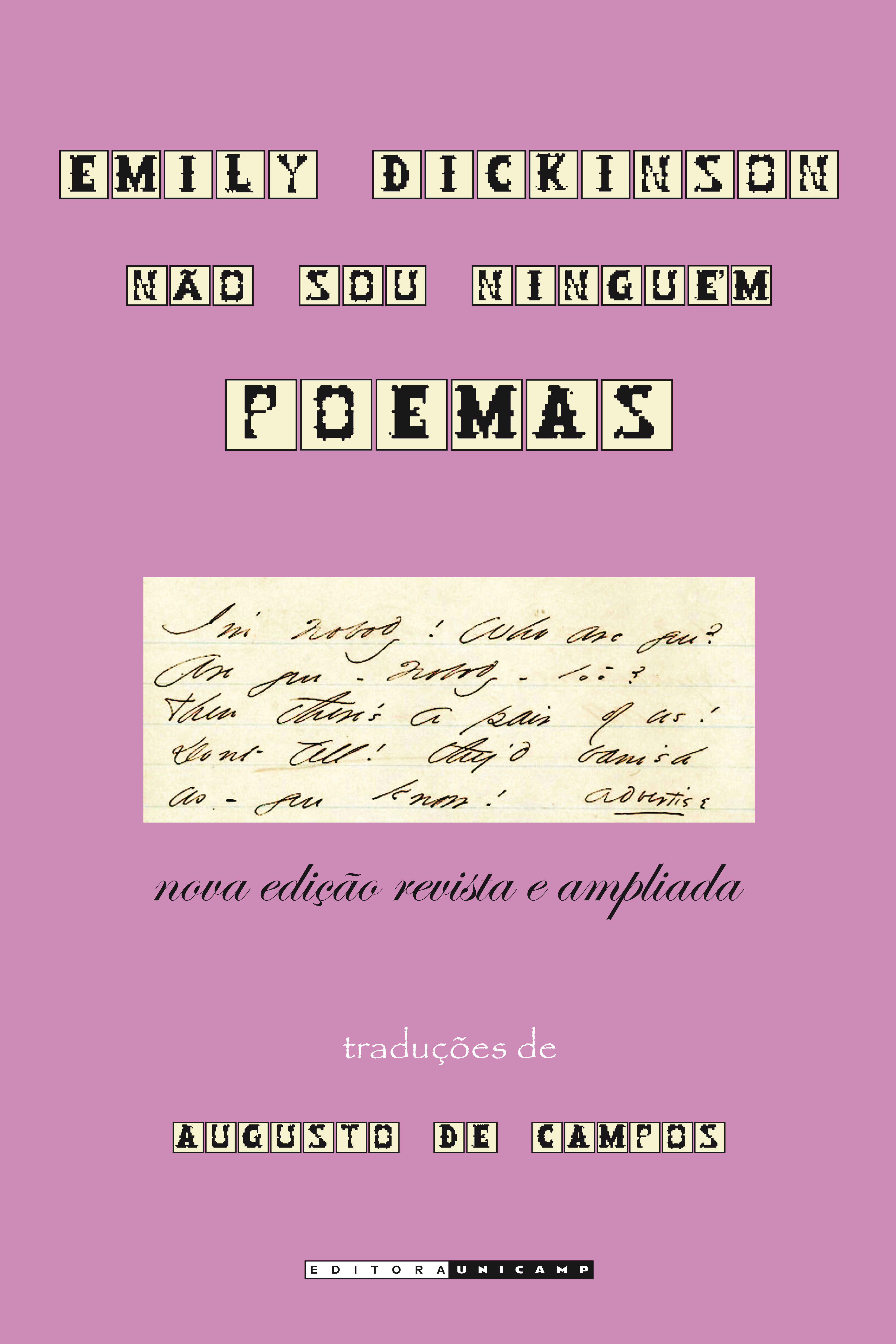 Emily Dickinson: Não sou ninguém, livro de Augusto de Campos