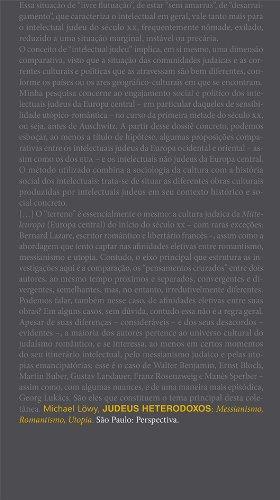 Judeus Heterodoxos - Messianismo, Romantismo, Utopia, livro de Michael Löwy