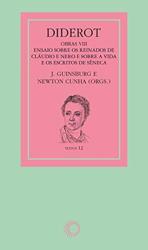 Diderot Obras VIII, livro de Newton Cunha, J. Guinsburg