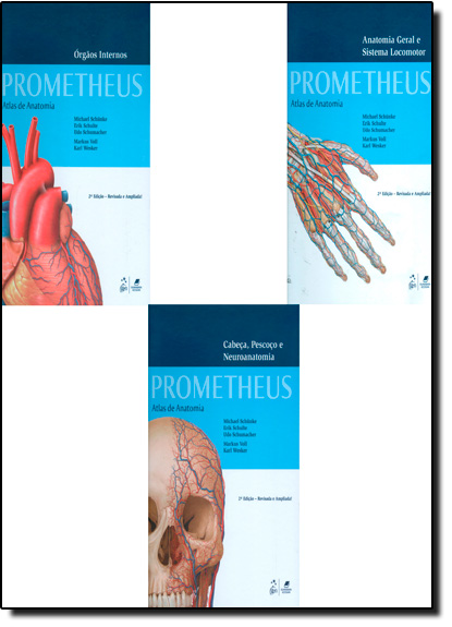 Box Atlas de Anatomia: 3 Volumes, livro de Prometheus