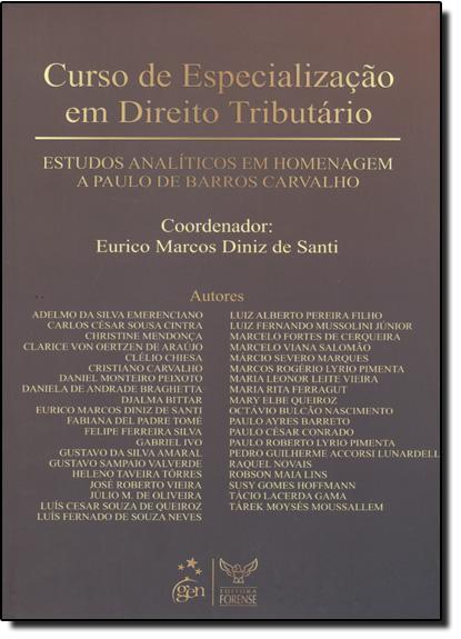 Curso de Especialização em Direito Tributário, livro de Erika De Santi