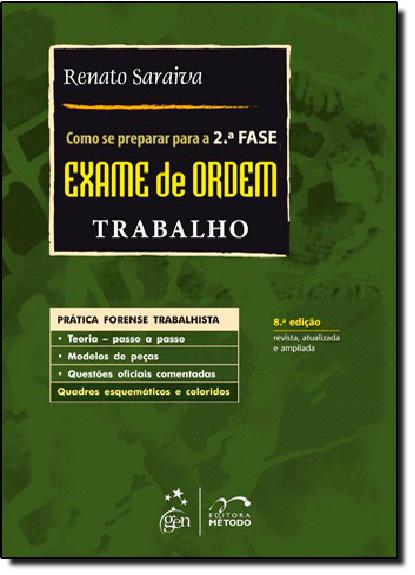 Como se Preparar Para a 2 Fase: Exame de Ordem - Trabalho, livro de Aryanna Manfredini