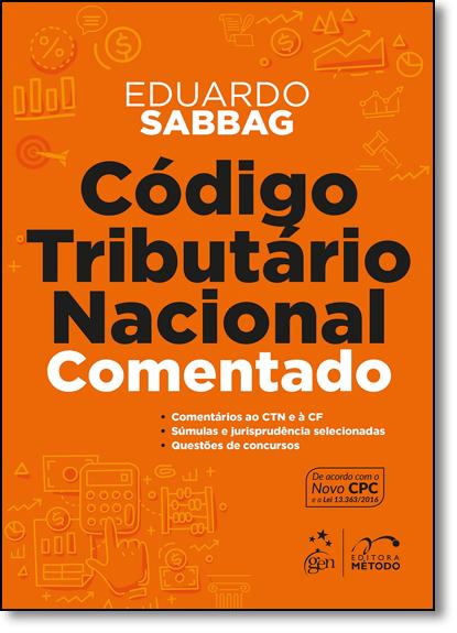 Código Tributário Nacional Comentado, livro de Eduardo Sabbag
