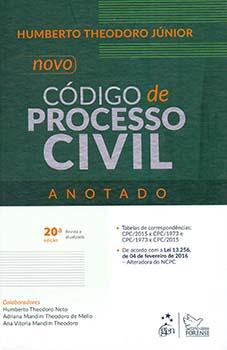Novo código de processo civil - Anotado - 20ª edição, livro de Humberto Theodoro Júnior