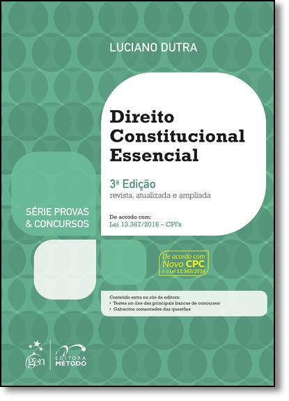 Direito Constitucional Essencial Para Concurso, livro de Luciano Dutra