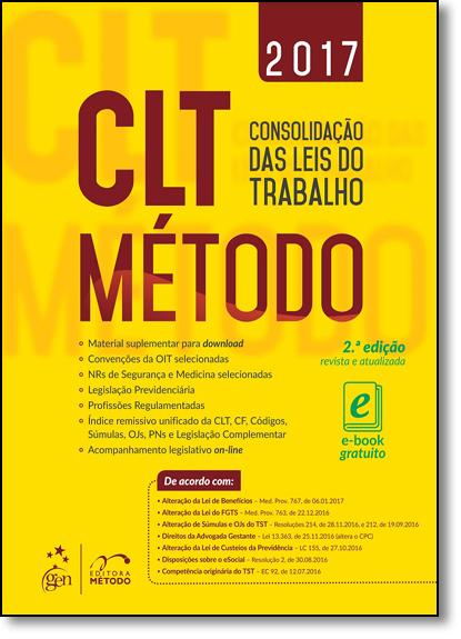 Clt Método: Consolidação das Leis do Trabalho, livro de Equipe Método