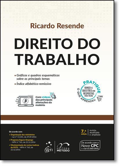 Direito do Trabalho, livro de Ricardo Resende