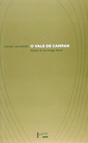 Vale De Campan, O - Estudo De Sociologia Rural, livro de