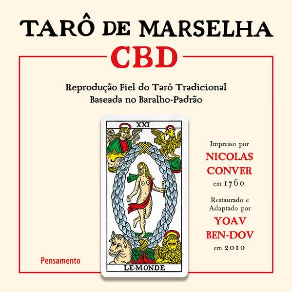 Tarô de Marselha CBD. Reprodução fiel do Tarô tradicional baseada no baralho-padrão., livro de Yoav Ben-Dov