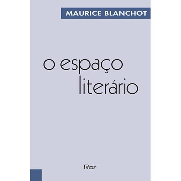 O espaço literário, livro de Maurice Blanchot
