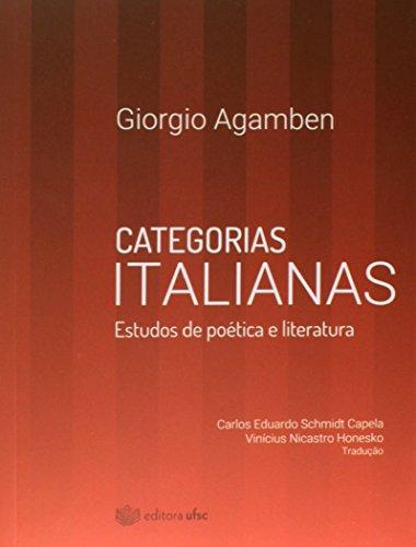 Categorias Italianas: Estudos de Poética e Literatura, livro de Giorgio Agamben