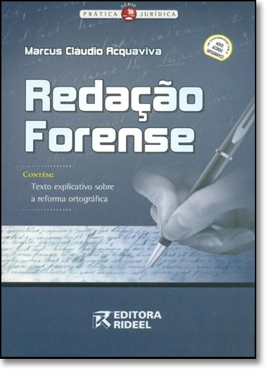 Redação Forense, livro de Marcus Claudio Acquaviva