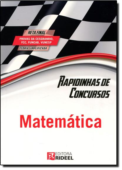 Rapidinhas de Concursos: Matemática, livro de Editora Rideel
