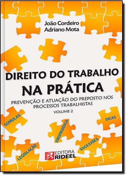 Direito do Trabalho na Prática: Prevenção e Atuação do Preposto nos Processos Trabalhistas - Vol.2, livro de João Cordeiro