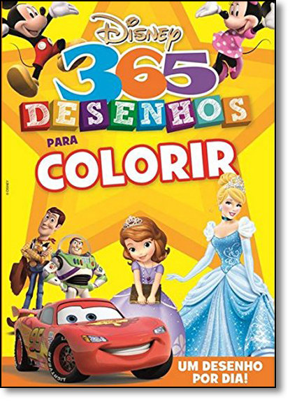 Disney: 365 Desenhos Para Colorir, livro de Jefferson Ferreira