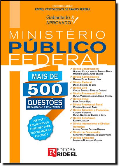 Gabaritado & Aprovado: Ministério Público Federal, livro de Rafael Vasconcelos de Araújo Pereira