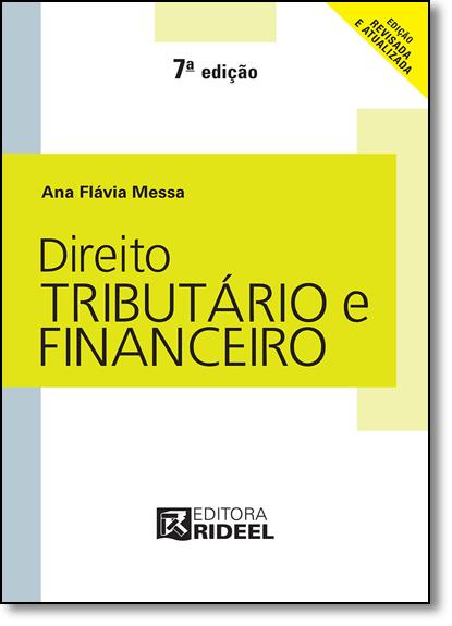 Direito Tributário e Financeiro, livro de Ana Flávia Messa