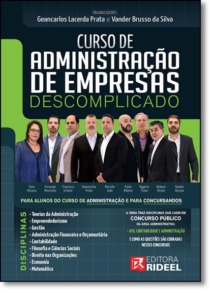 Curso de Administração de Empresa Descomplicado, livro de Vander Brusso da Silva