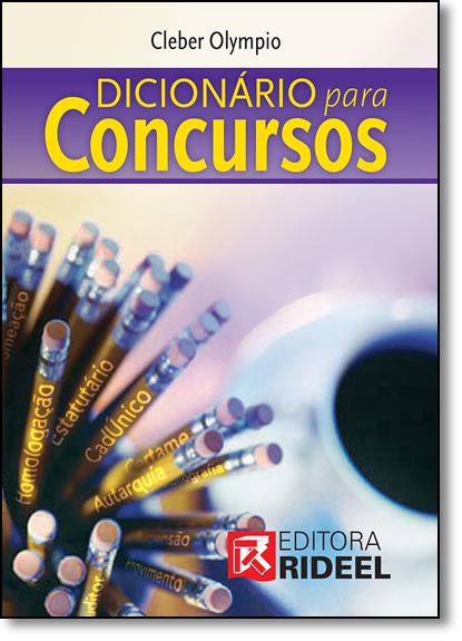 Dicionário Para Concursos, livro de Cleber Olympio