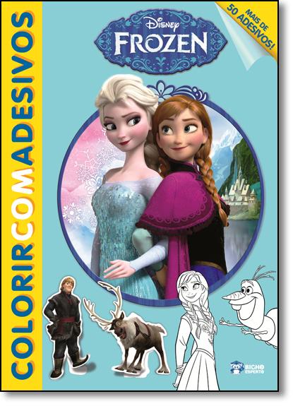 Frozen - Coleção Disney Colorir Com Adesivos, livro de Jefferson Ferreira