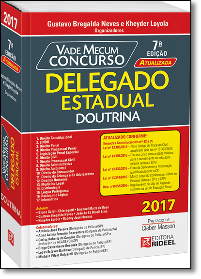 Vade Mecum Concurso: Delegado Estadual - Doutrina, livro de Gustavo Bregalda