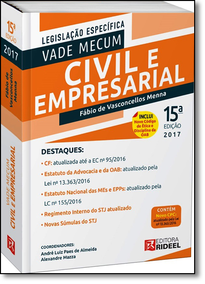 Vade Mecum Civil e Empresarial, livro de Fábio de Vasconcellos Menna