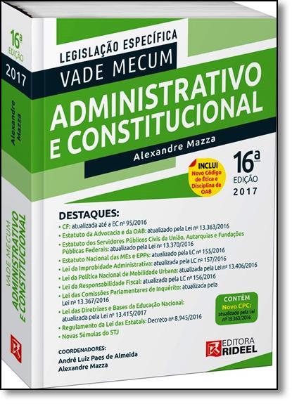 Vade Mecum Administrativo e Constitucional, livro de Alexandre Mazza