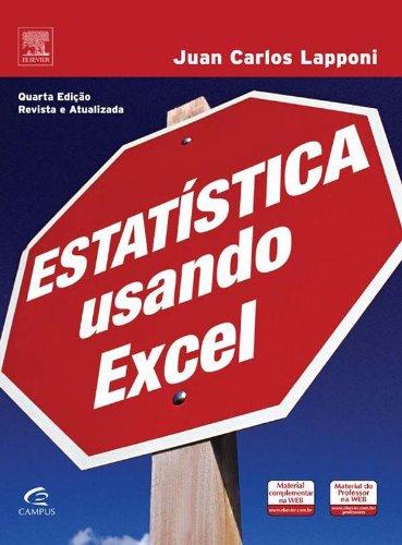 Estatística Usando Excel, livro de Juan Carlos Lapponi