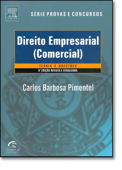 Direito Empresarial (comercial), livro de Carlos Barbosa Pimentel