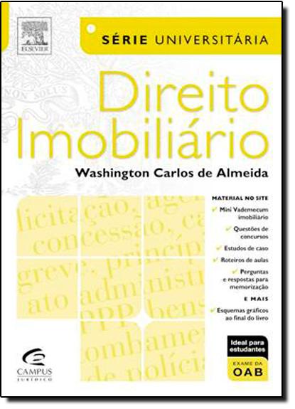Direito Imobiliário, livro de Telma Teixeira de Oliveira Almeida