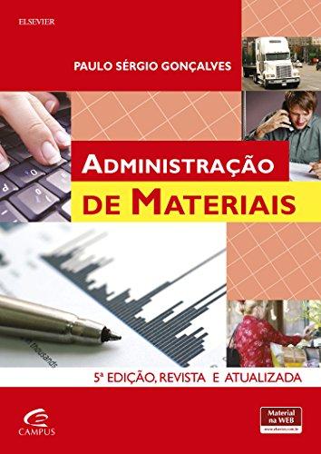 Administração de Materiais, livro de Paulo Sérgio Gonçalves