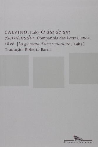 O dia de um escrutinador, livro de Italo Calvino