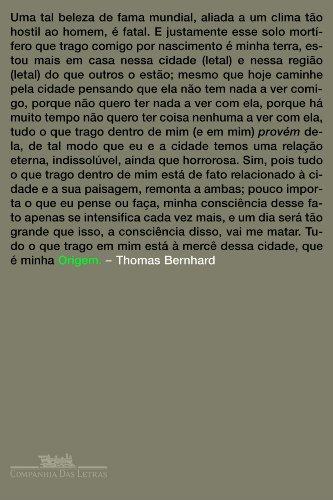 ORIGEM, livro de Thomas Bernhard
