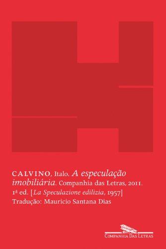 A especulação imobiliária, livro de Italo Calvino