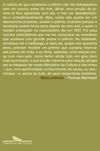Meus prêmios, livro de Thomas Bernhard