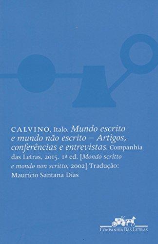 Mundo escrito e mundo não escrito, livro de Italo Calvino