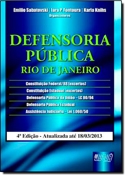Defensoria Pública: Rio de Janeiro, livro de Emilio Sabatovski