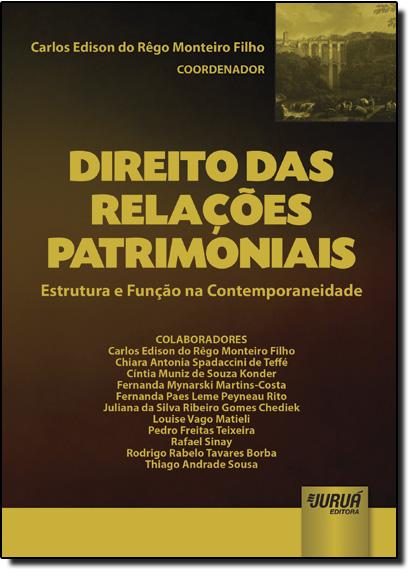 Direito das Relações: Patrimoniais Estrutura e Função na Contemporaneidade, livro de Carlos Edison do Rêgo Monteiro Filho