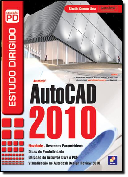Estudo Dirigido de Autocad 2010, livro de Claudia Campos Lima