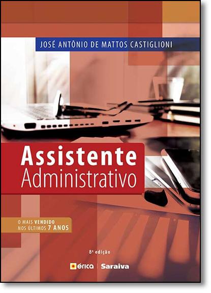 Assistente Administrativo, livro de José Antonio de Mattos Castiglioni
