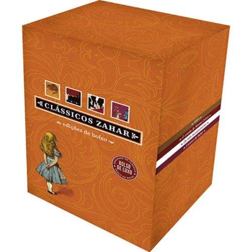 Box Clássicos Zahar, livro de Lewis Carroll, Jeanne-Marie Leprince de Beaumont, Charles Perrault, Joseph Jacobs, Alexandre Dumas, Wilhelm Grimm, Jacob Grimm, Hans Christian Andersen