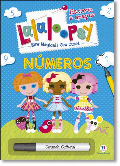 Lalalopsy: Números - Coleção Escreva e Apague, livro de Ciranda Cultural