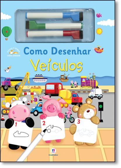 Como Desenhar Veículos - Coleção Escreva e Apague, livro de Ciranda Cultural