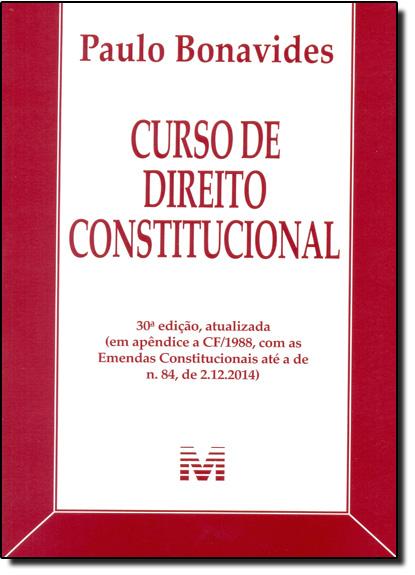 Curso de Direito Constitucional, livro de Paulo Bonavides