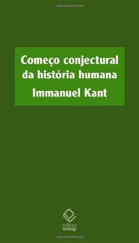 Começo conjectural da história humana, livro de Immanuel Kant