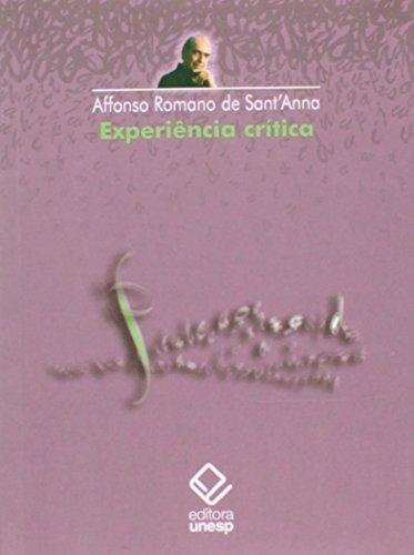 Experiência crítica, livro de Affonso Romano de Sant