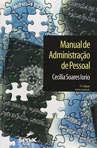 Manual De Administração De Pessoal, livro de Cecilia Soares Iorio