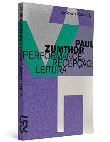 Performance, recepção, leitura (Portátil 27), livro de Paul Zumthor