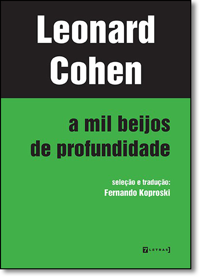 Mil Beijos de Profundidade, A, livro de Leonard Cohen